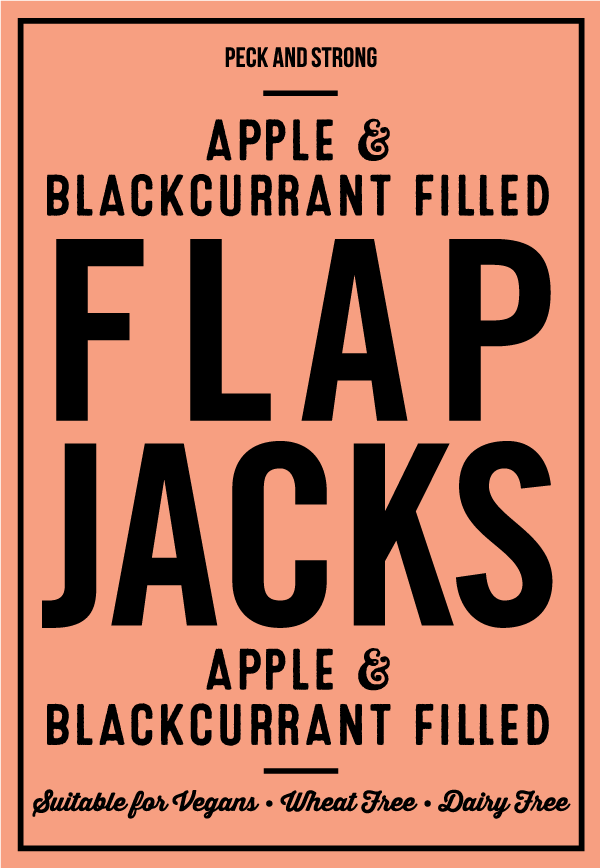 Apple & Blackcurrant Filled Flapjacks