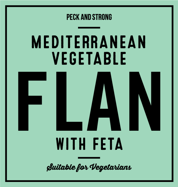 Mediterranean Vegetable Flan with Feta