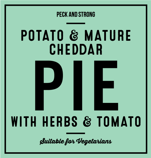 Potato & Mature Cheddar Pie with Herbs & Tomato