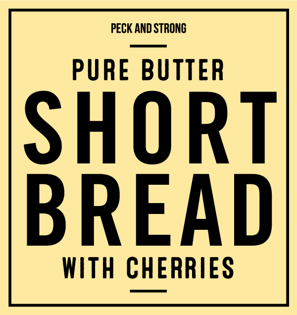 Pure Butter Shortbread with Cherries