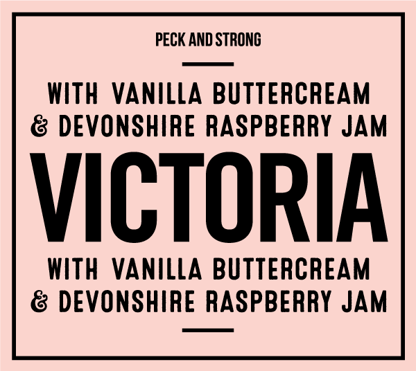 Victoria with Vanilla Buttercream & Devonshire Raspberry Jam