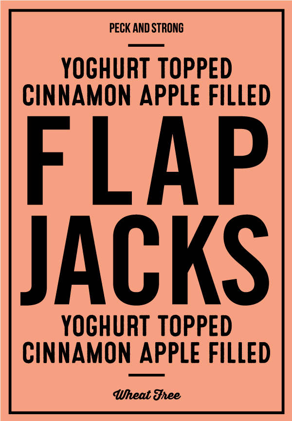 Yoghurt Topped Cinnamon Apple Filled Flapjacks