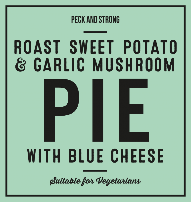 Roast Sweet Potato & Garlic Mushroom Pie with Blue Cheese