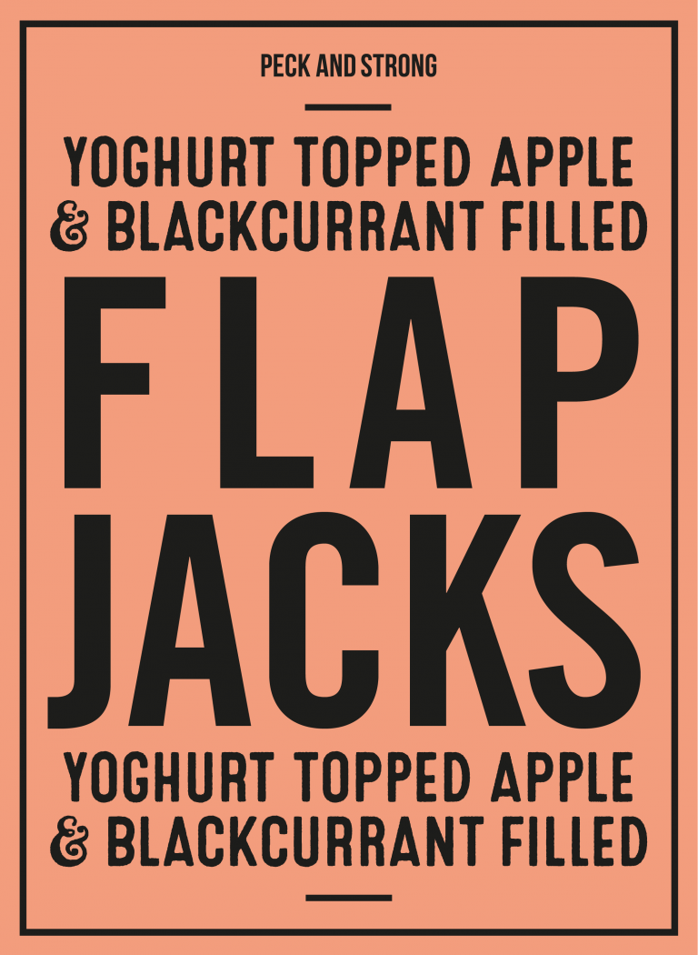 Yoghurt Topped Apple & Blackcurrant Filled Flapjacks
